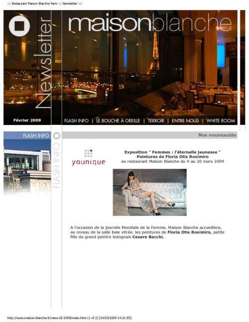 Restaurant Maison Blanche Paris Communiqué de presse_Page_1