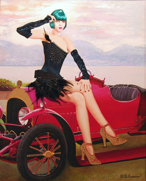 Flapper à la Bentley - 60x73cm.jpg